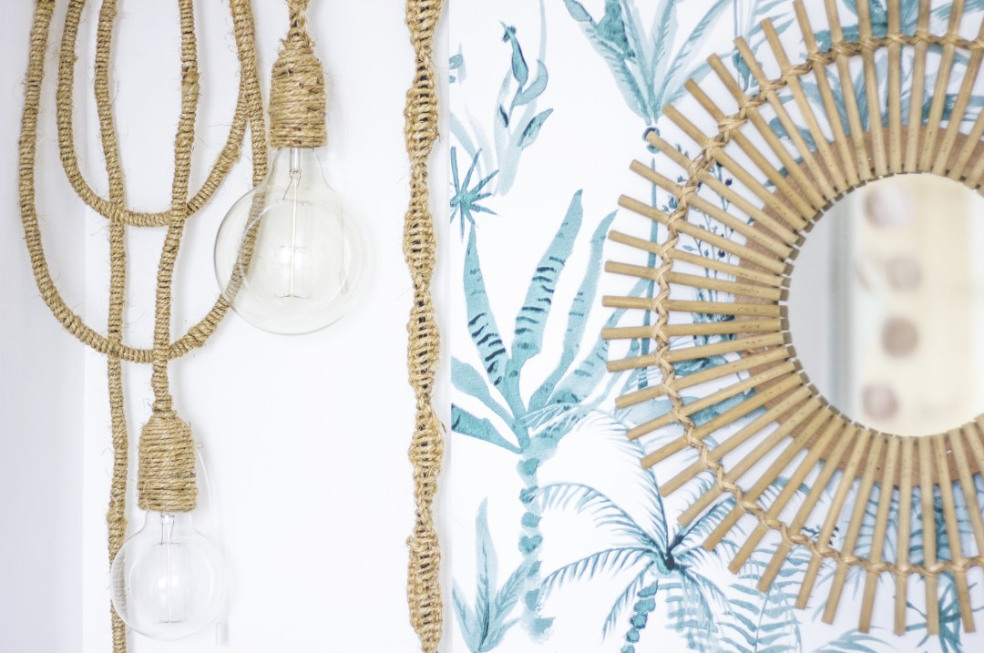DIY ldp création decoration lampe jungle tropical