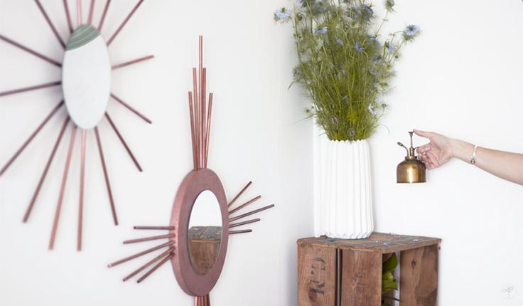 DIY la délicate parenthèse blog déco miroir cuivre