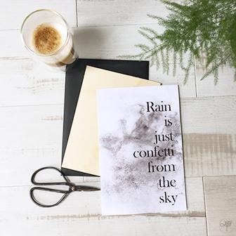 free printable sur les jours de pluie