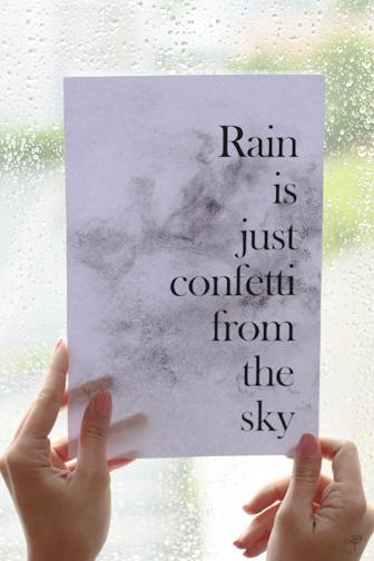 mantra printable sur la pluie
