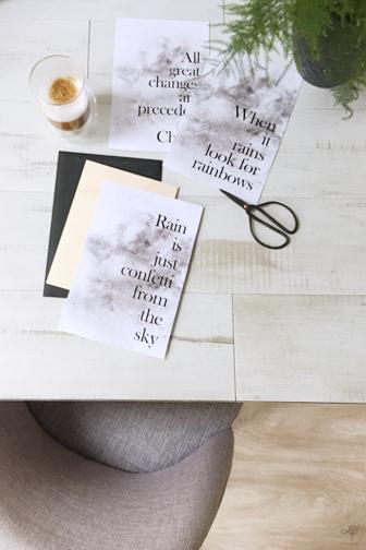 printable DIY pluie