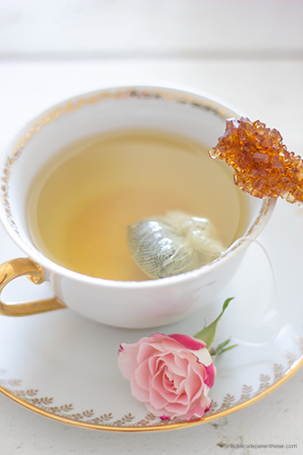 DIY La Délicate Parenthèse création sachets de thé fleuris