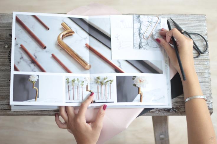 La Délicate Parenthèse mood board 3D album photo cheerz texture marbre