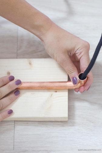 la delicate parenthese création DIY lampe articulée en cuivre