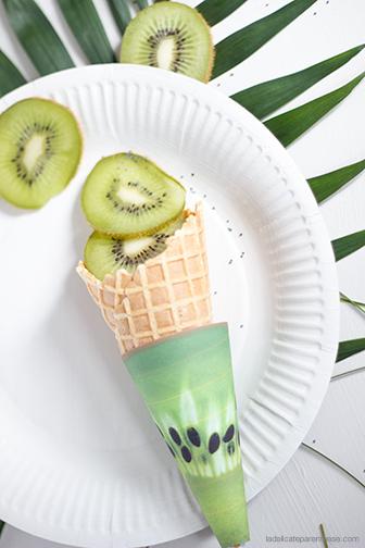 La délicate parenthèse DIY free printable cone de glace fruité kiwi