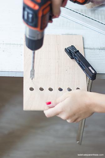 La Délicate Parenthèse création DIY agenda peg- board do it yourself blog déco