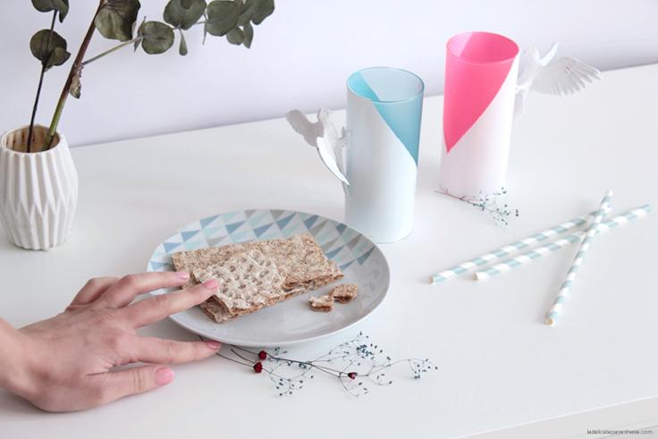 La Délicate Parenthèse création DIY verres pastels et graphiques