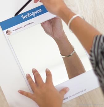 La Délicate Parenthèse création DIY blog déco miroir instagram