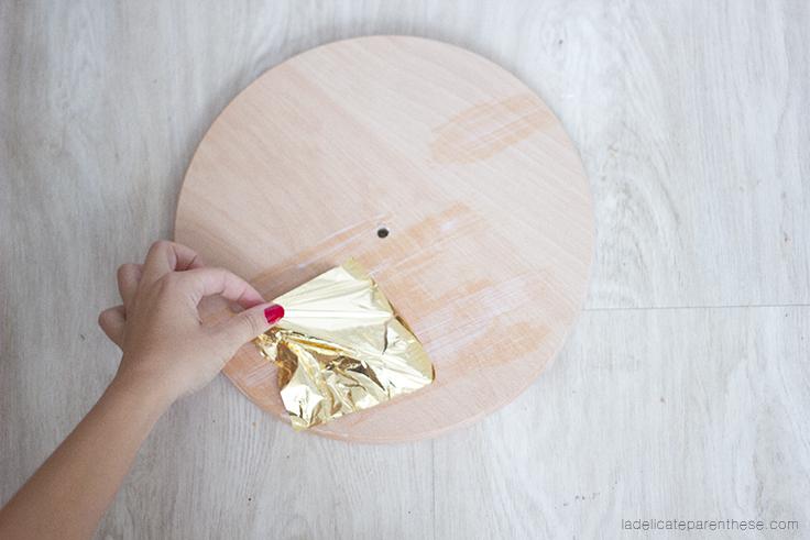 a délicate parenthèse création DIY blog déco handmade horloge minimaliste- clock hanging