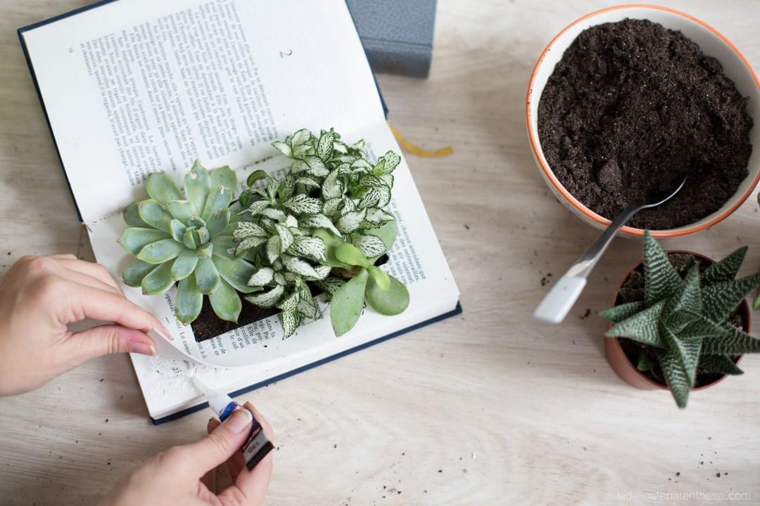 DIY étagères végétales livres recyclés