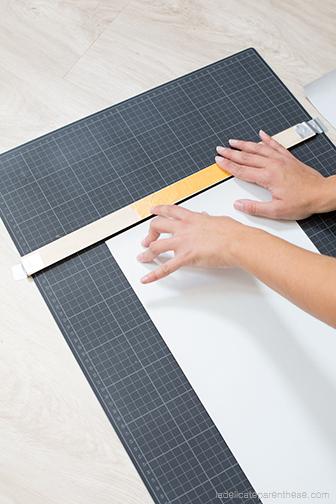 DIY papier peint à suspendre en porte magazine