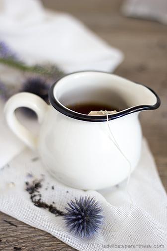 Création sachets de thé fleuris handmade blog déco, set design teatime d'automne