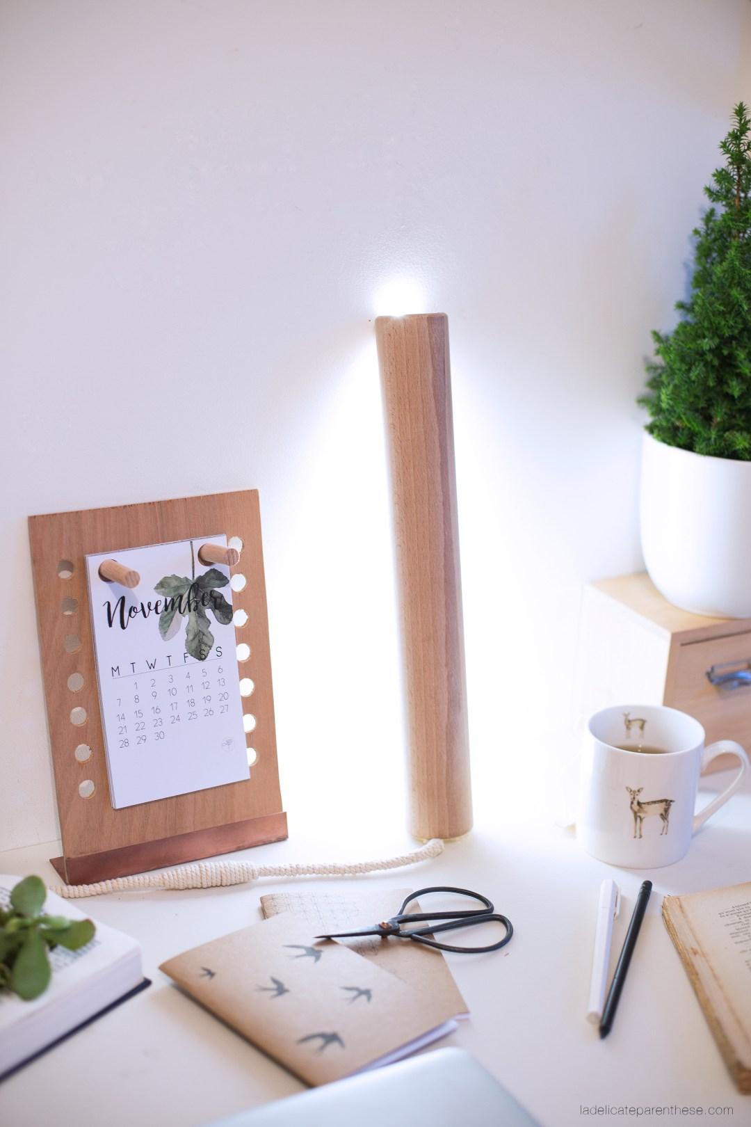 baladeuse en bois lampe indirecte DIY création décoration