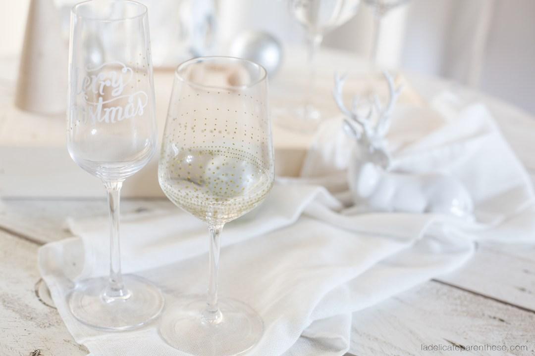 Création de verres en marques places pour surprendre les invités DIY blog déco