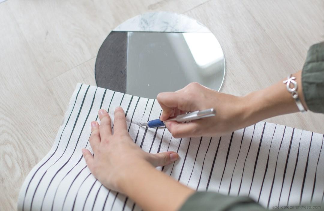 réalisation handmade création DIY miroir