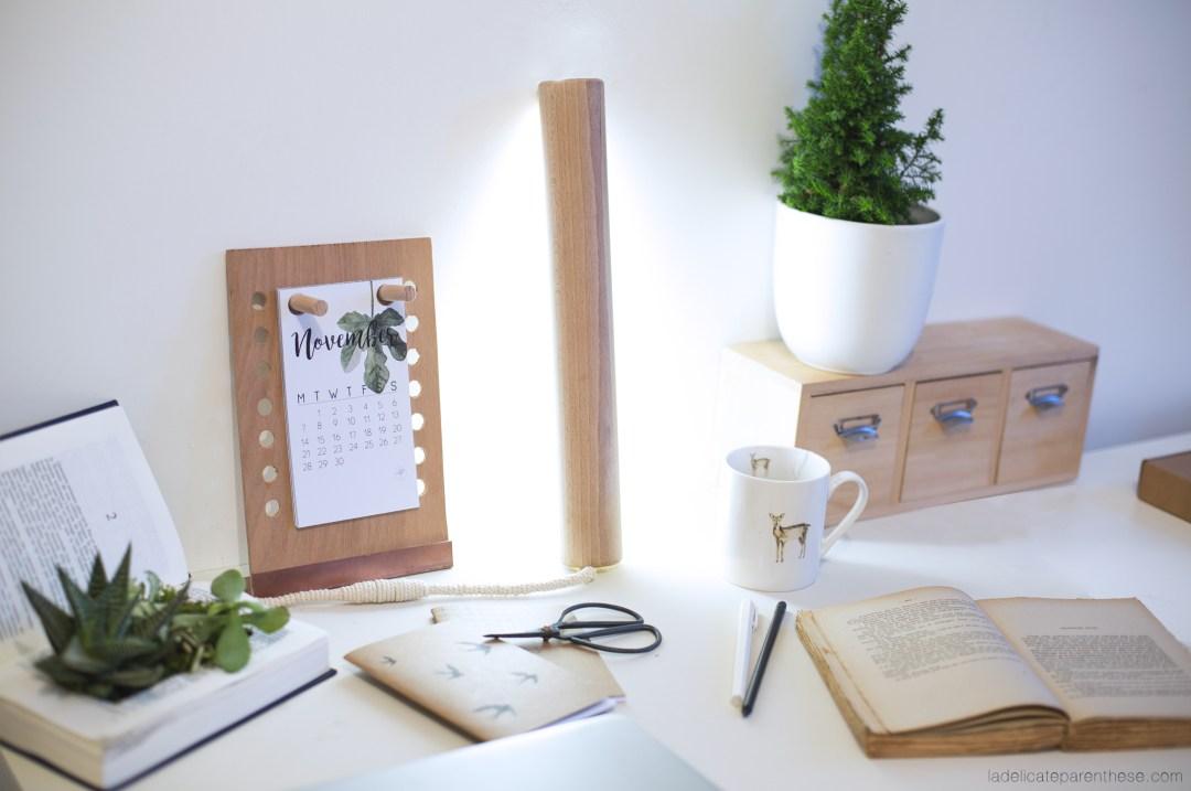 Diy lampe baladeuse en bois de bureau