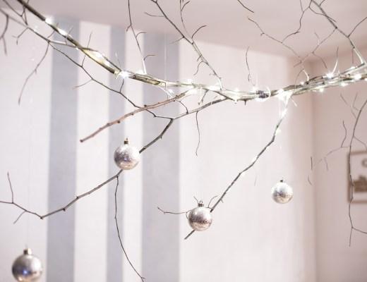 home décoration création DIY blog deco inspiration table de noel et suspension branche