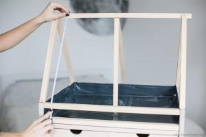 Création DIY serre végétale d'intérieur ikea hack mesure