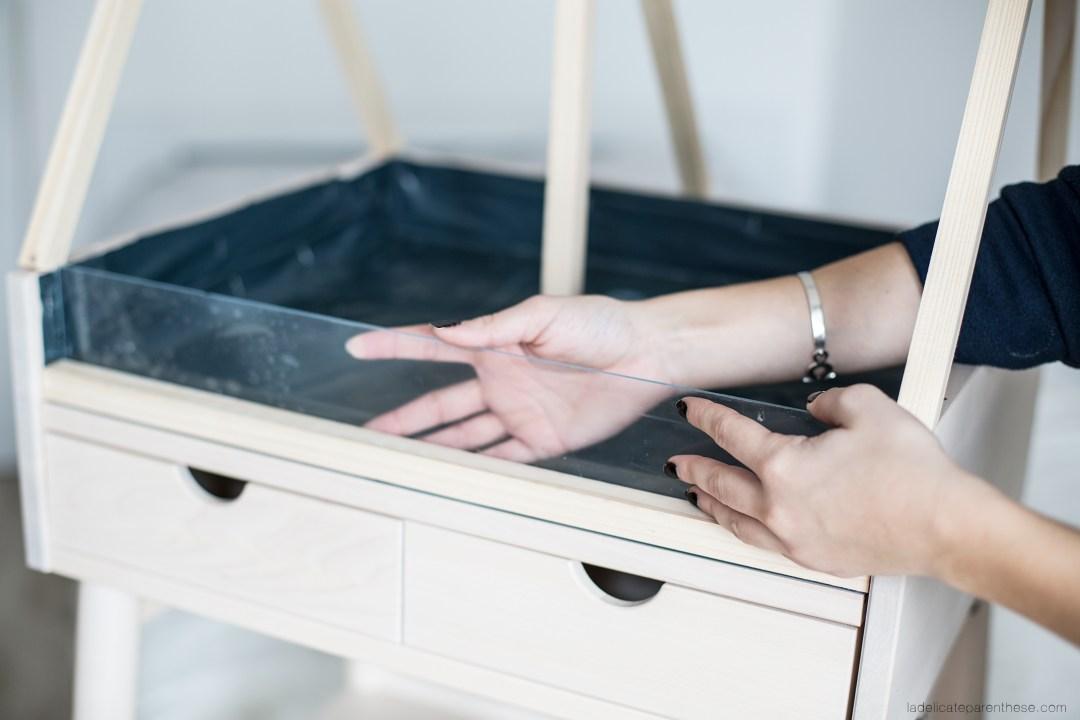 Installation plexiglass DIY blog deco serre intérieure