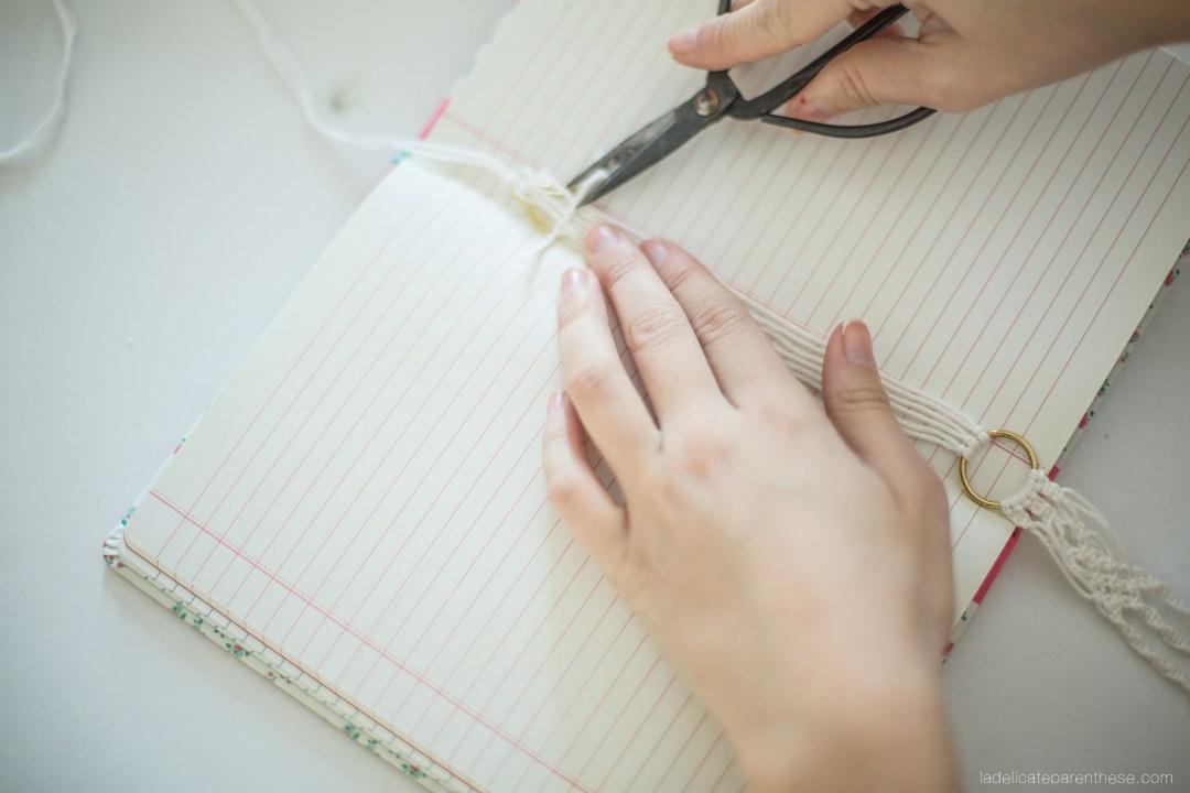 DIY les marques pages en macramé