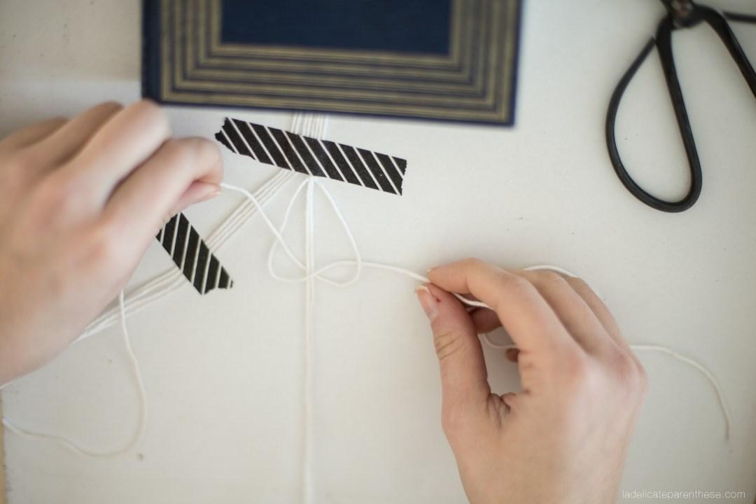 Création Blog deco handmade marque page en macramé