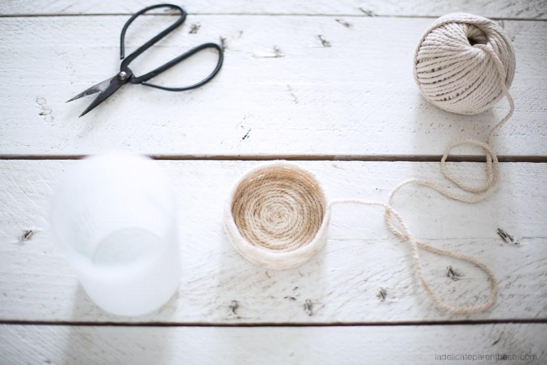décoration DIY handmade vase en corde