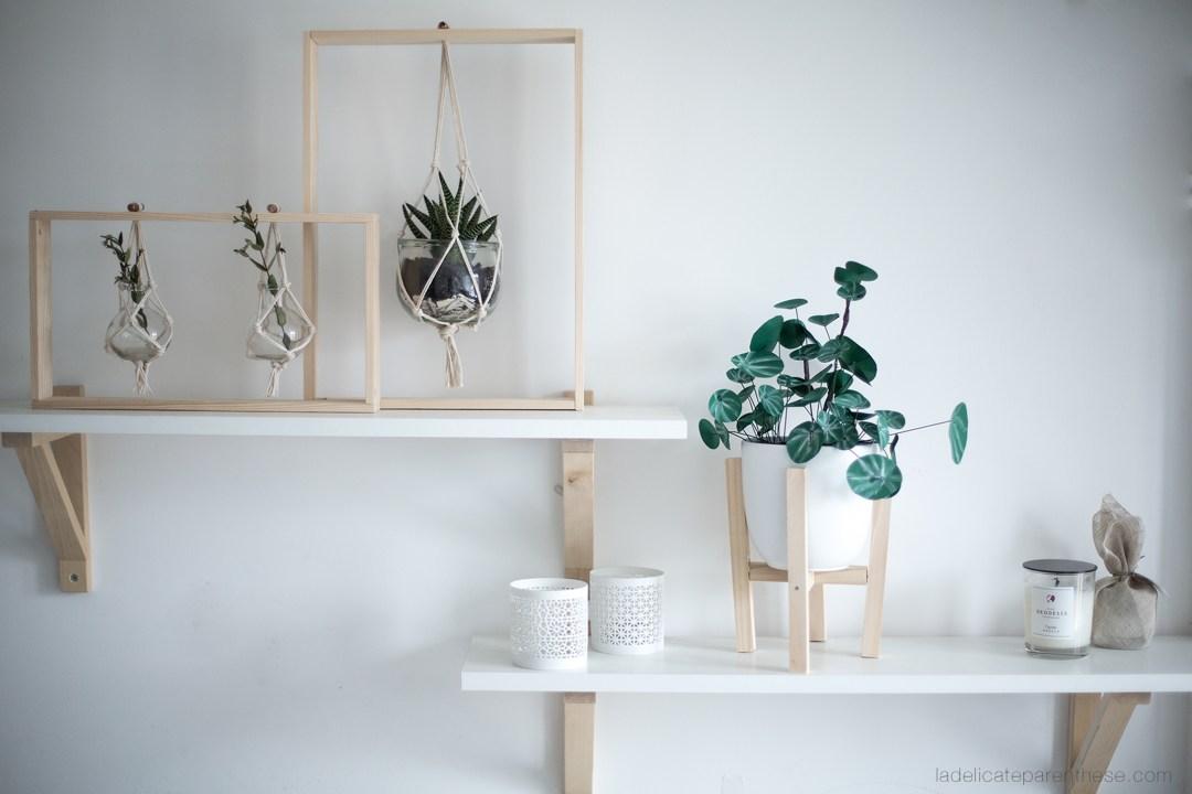 DIY handmade création pilea peperomioides en papier
