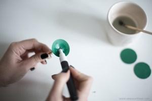 DIY création pilea peperomioides en papier