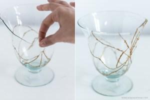 kintsugi DIY blog décoration terrarium vaisselle cassée