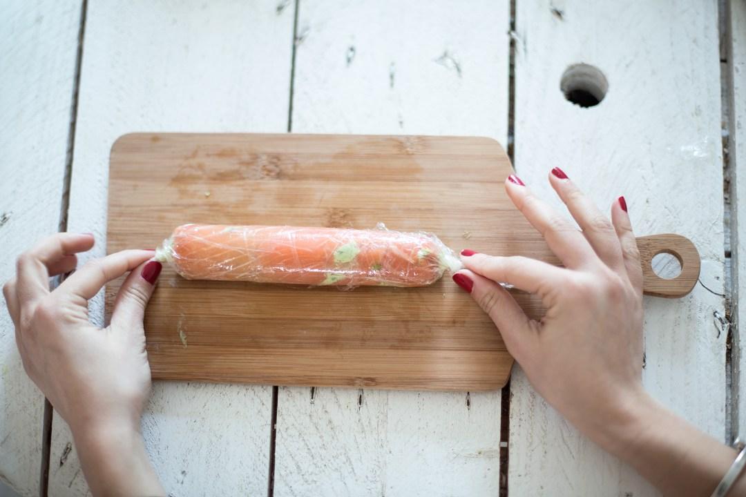 création DIY handmade labeyrie roll salmon