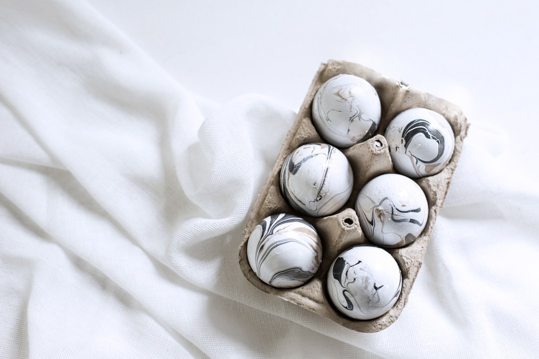 home décoration handmade marble effect egg