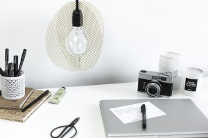 DIY luminaire minimalisme creation blog