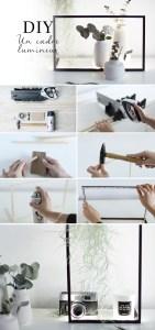 pas à pas DIY handmade blog cadre lumineux
