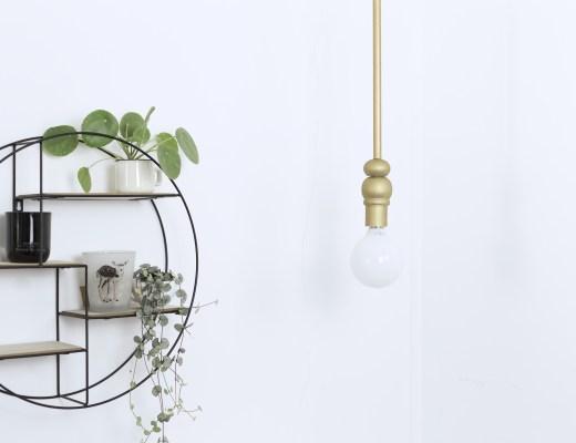 home luminaire DIY minimal