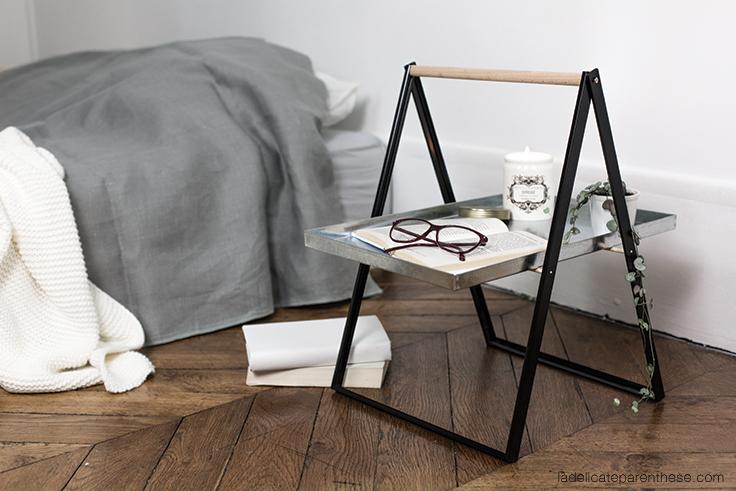 DIY création table de chevet en détournement