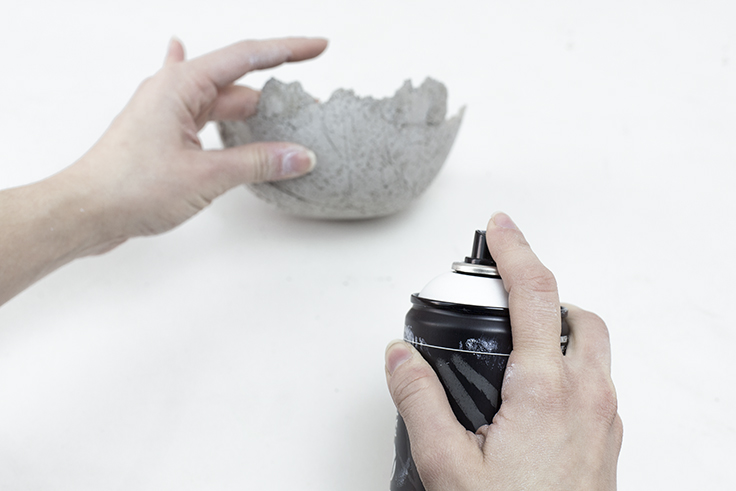 Création Do it yourself handmade bol en béton