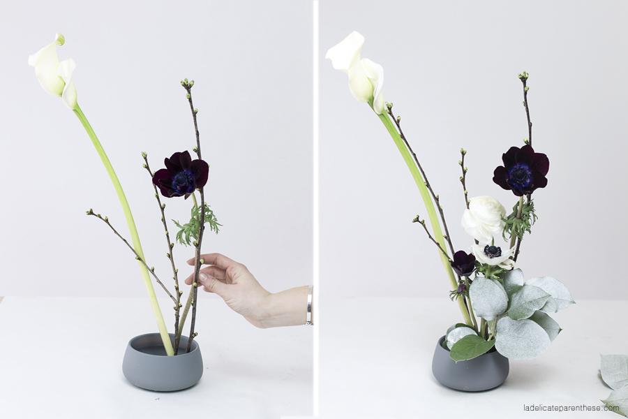 réalisation ikébana art floral japonais