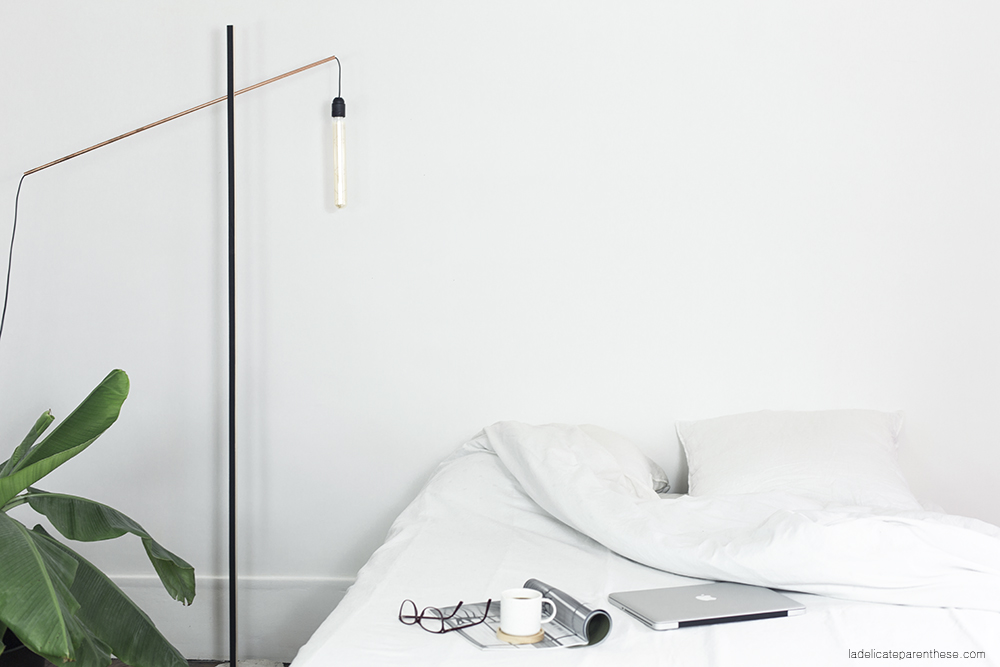 Do it yourself création d'un lampadaire minimal et socle en béton