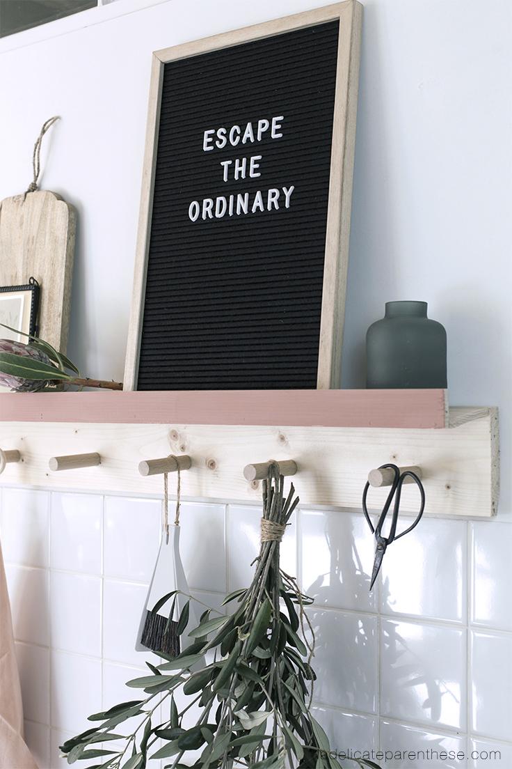 création étagère DIY rangement cuisine