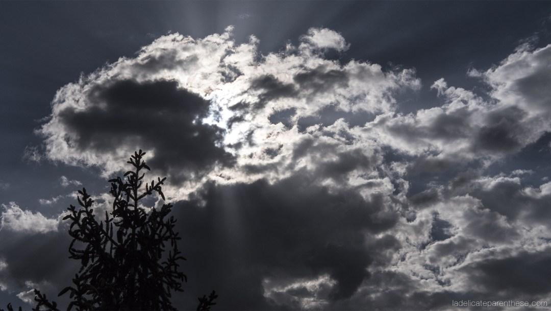 nuances de ciel nuageux de ce voyage aux dolomites