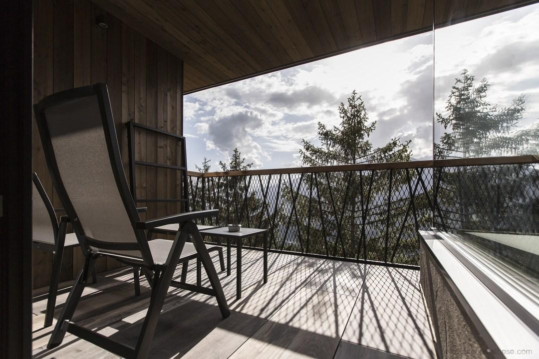 Road trip dans le Sud Tyrol, terrasse de l'hôtel My arbor