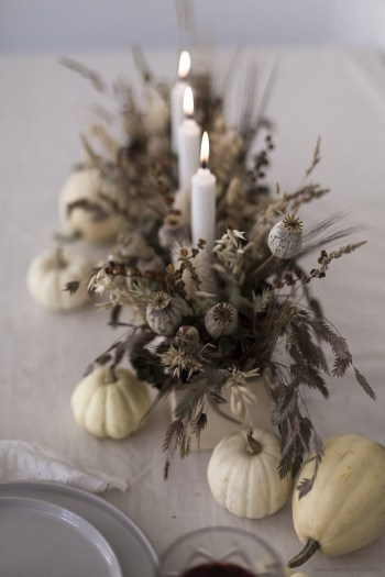 creation centerpiece flower for halloween table