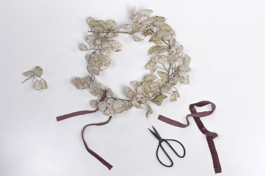 Couronne de Noel lumineuse se transformant en bougeoir Do It Yourself
