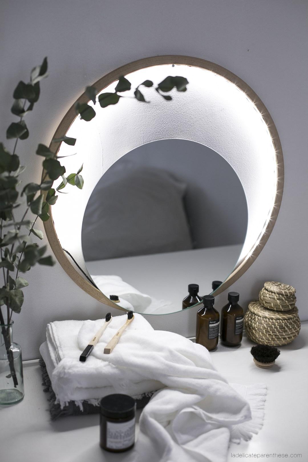 Miroir Eclairant Salle De Bain diy ] réaliser un miroir lumineux de salle de bain. - la
