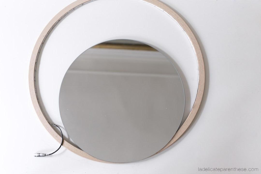 étapes de création Do it yourself miroir de salle de bain
