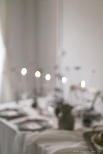 création table de Noel festive et minimale bokeh