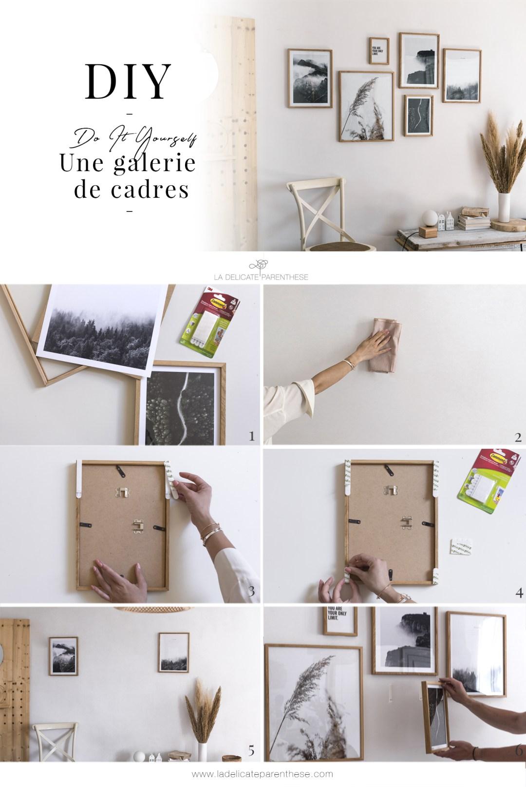 Pas à pas créatif pour réaliser une galerie de cadres