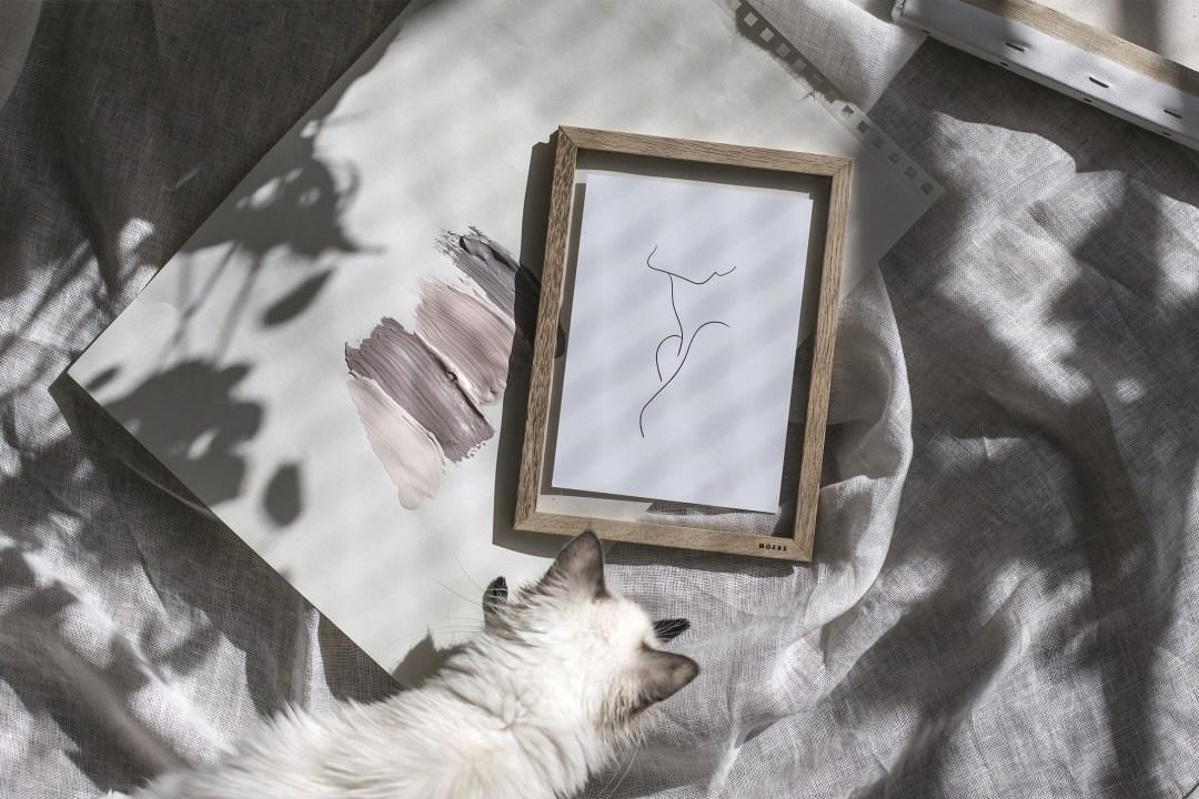 line art atelier d'artiste décoration