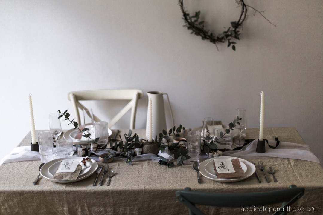 une table de noel up'cycling et zero dechets