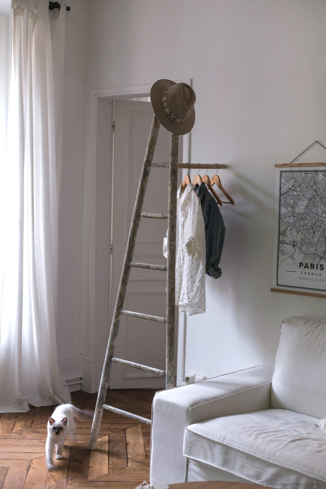 echelle portant DIY organizer